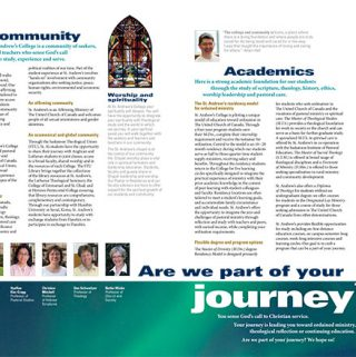 Centre spread of brochure for St. Andrew's College by Dan Coggins, Pitchgreen Communications