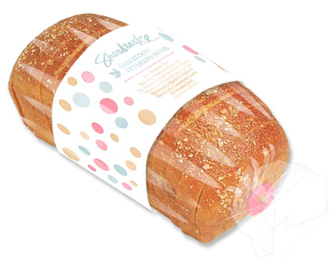 Press conference invitation around a loaf of bread for Sherbrooke Community Centre by Dan Coggins, Pitchgreen Communications