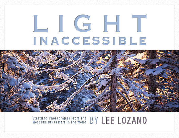 Photography book cover design for Light Inaccessible by Dan Coggins, Pitchgreen Communications