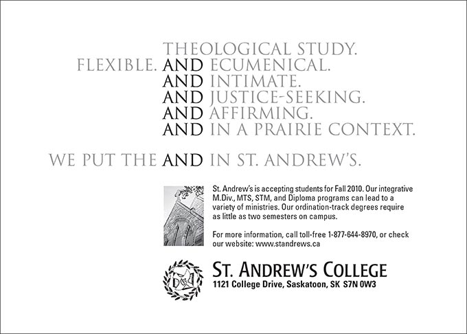 Print ad for St. Andrew's College by Dan Coggins, Pitchgreen Communications