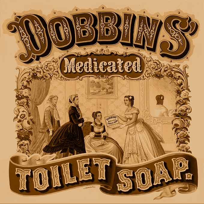 An 1869 advertisement for toilet soap — long before the advent of online advertising